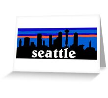 Seattle, skyline silhouette Greeting Card