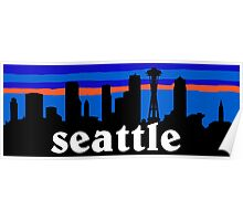 Seattle, skyline silhouette Poster