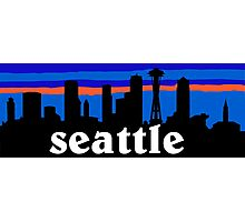 Seattle, skyline silhouette Photographic Print