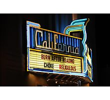California Theatre, Berkeley, CA Photographic Print