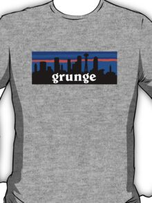 Grunge, Seattle skyline silhouette. T-Shirt