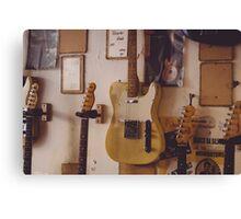 Fender Telecater - Vintage Guitar Store Canvas Print
