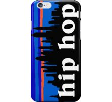 Hip Hop, NYC skyline silhouette iPhone Case/Skin