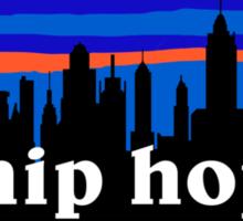 Hip Hop, NYC skyline silhouette Sticker