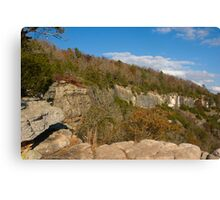 Limestone Bluff Off Water Creek Canyon Canvas Print