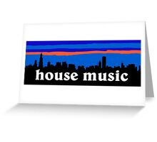 House music, Chicago skyline silhouette Greeting Card