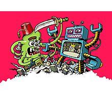 Monster vs Robot Photographic Print