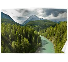 Scenic view of the river Inn Poster