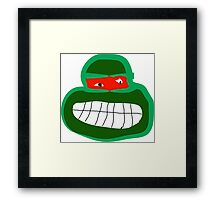 raphael tmnt Framed Print
