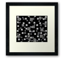 Gray Squares Framed Print