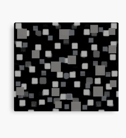Gray Squares Canvas Print