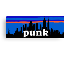 Punk, NYC skyline silhouette Canvas Print