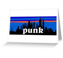Punk, NYC skyline silhouette Greeting Card