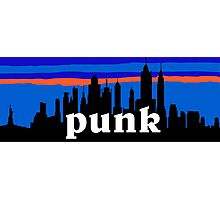 Punk, NYC skyline silhouette Photographic Print
