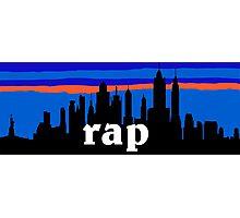 RAP, NYC skyline silhouette Photographic Print