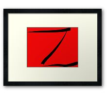 z for zorro or  Framed Print