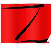 z for zorro or  Poster