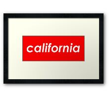 California - Red  Framed Print