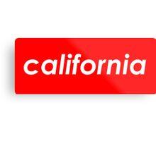 California - Red  Metal Print