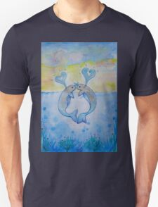 cute in love creature of the sea Unisex T-Shirt
