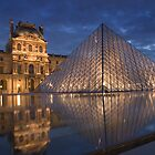 Pyramid at the Louvre museum, Paris  by Andrew Duke