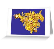 Graffiti spray warrior Greeting Card