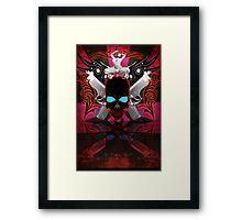 Skulls Guns & Strippers Framed Print