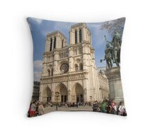 Notre Dame Cathedral, Paris Throw Pillow