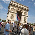 Arc De Triomphe on Bastille day by Andrew Duke