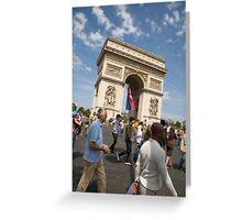 Arc De Triomphe on Bastille day Greeting Card