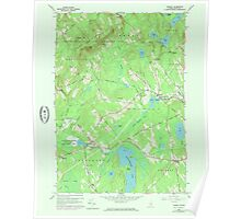 Maine USGS Historical Map Morrill 808107 1960 24000 Poster