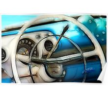 Skinny Steering Wheel Poster