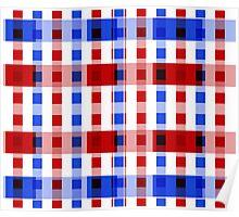 Red White Blue Blocks Poster