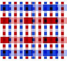 Red White Blue Blocks Photographic Print