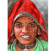 Woman from North-India Photographic Print