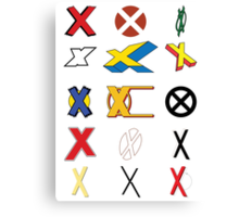 Mutant Alphabet Canvas Print