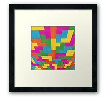 block art Framed Print