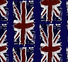 Patriotic Union Jack, UK Union Flag, British Flag by Val  Brackenridge