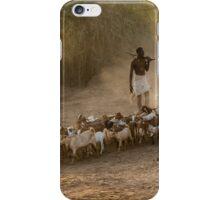 Herding the goats in Ethiopia iPhone Case/Skin