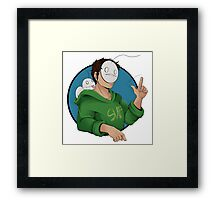 Cry and a Little Sup Framed Print