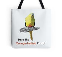 Orange-bellied Parrot products (dark background colours) Tote Bag
