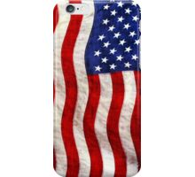 Tattered Patriotic USA Flag iPhone Case/Skin
