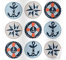 Nautical Adventures: Icons Poster