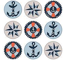 Nautical Adventures: Icons Photographic Print
