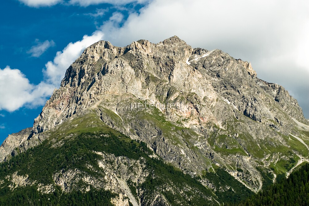 Mountains above Scuol by peterwey