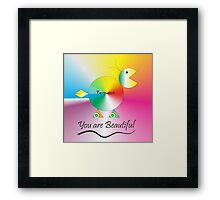 Tommi says You're Beautiful Framed Print