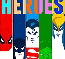 Heroes - Superheroes  by sofreeisfree
