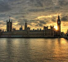 Sunset in London England by Giovanna Tucker