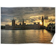 Sunset in London England Poster