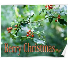Berry Christmas Poster